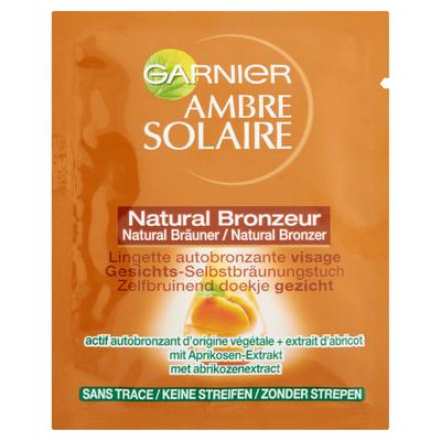 Lingette aubronzante visage Natural Bronzeur AMBRE SOLAIRE, sachet de5,6ml