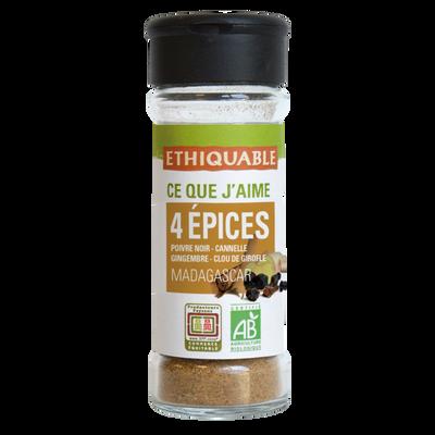 Quatre épices madagascar bio ETHIQUABLE, 40g
