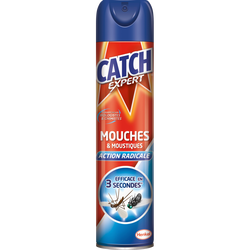 Insecticide anti-mouches et moustiques CATCH, aérosol de 400ml