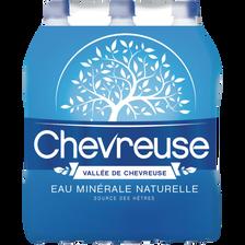 """Eau minerale plate """"L'eau qui fait respirer Paris"""" CHEVREUSE, 6 bouteilles de 1,5l"""