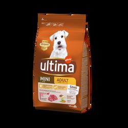 Croquettes spécial mini adulte boeuf p/chien ULTIMA 1,5kg