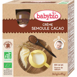 Gourde semoule cacao BABYBIO, 4x85g