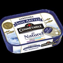 Sardine sans arêtes au naturel CONNETABLE, boîte de 1/5, 98g