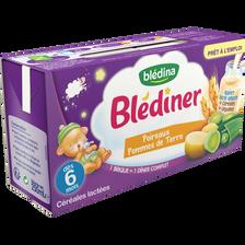 BLEDINER lait, poireaux et pomme de terre Blédina, dès 6 mois, 2x250ml