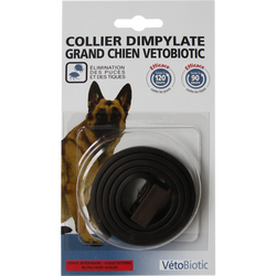 Collier dimpylate noir grand chien, VETOBIOTIC, 41g