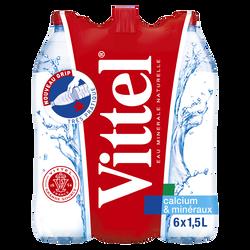 Eau minérale naturelle VITTEL, 6 bouteilles de 1,5l