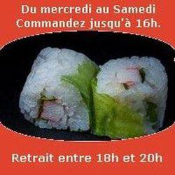Spring rolls 6 pièces,Saumon avocat concombre sauce spicy, SUSHI MONT BLANC