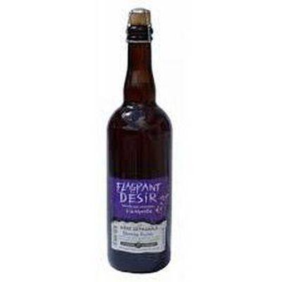 """Bière artisanale blanche fruitée aux céréales d'Auvergne """"flagrant désir"""" 75cl"""