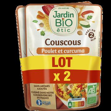 Jardin Bio Couscous Poulet/curcuma Bio Jardin Bio 2x220g