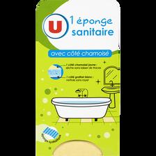 Eponge sanitaire avec côté chamoisé U, x1