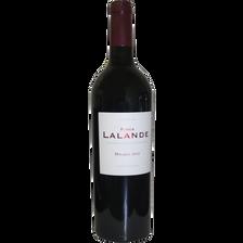 Vin d'Argentine rouge Finca Lalande Malbec, agriculture bio, bouteillede 75cl
