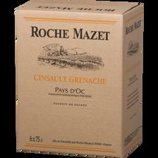 Roche Mazet Vin Rosé Pays D'oc Igp Grenache Cinsault , 2017, 6x75cl