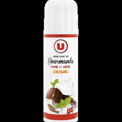 Crème sucrée vanillée UHT sous pression U, 27%mg, 250g