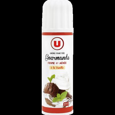 Crème sucrée vanillée UHT sous pression U, 27% de MG, 250g