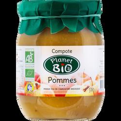 Compote pommes Bio PLANET BIO, 590g