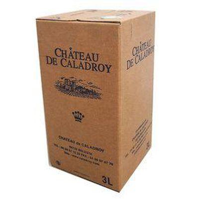 BIB de 3 litre de MUSCAT DE RIVESALTES, Vin doux naturel CHÂTEAU DE CALADROY