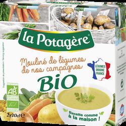 Mouliné de légumes campagnes bio LA POTAGERE, 2x30cl