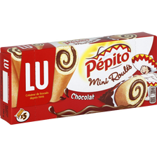 Mini roulés au chocolat PEPITO, 5 pièces, 150g