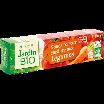 Sauce tomate aux petits légumes JARDIN BIO, tube de 180g