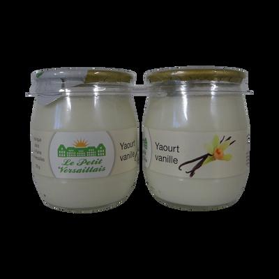 Yaourt au lait entier vanille LE PETIT VERSAILLAIS, pot en verre 2x125g