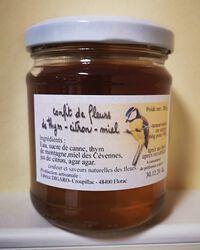 Confit de fleurs de thym et citron au miel, 200g