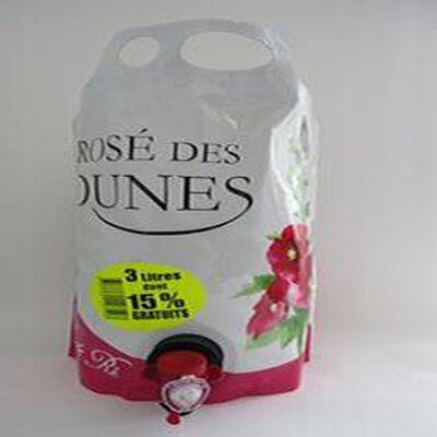 Rosé des Dunes vin de pays charentais brick 3 litres IGP Vignerons de Île de Ré