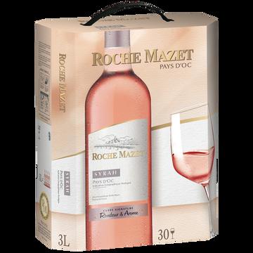 Roche Mazet Vin Rosé Igp Pays D'oc Syrah Roche Mazet, Fontaine À Vin De 3l