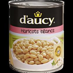 Haricots blancs préparés D'AUCY, boîte de 500g
