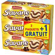 Brossard Gâteaux Marbré Au Chocolat Savane, 2 Paquets De 300g + 1 Offert