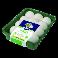 Champignon blanc, BIO, calibre Moyen, France, barquette 200g