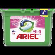 Ariel Lessive Liquide Fresh Pink Pods Ariel, Boîte De 16 Doses Soit 432g