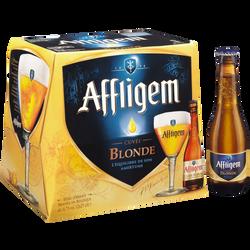 Bière cuvée blonde d'abbaye AFFLIGEM, 6,7°, packs 12x25cl