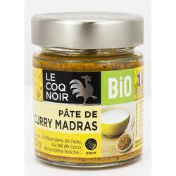 Pâte de Curry Madras Bio LE COQ NOIR 130g