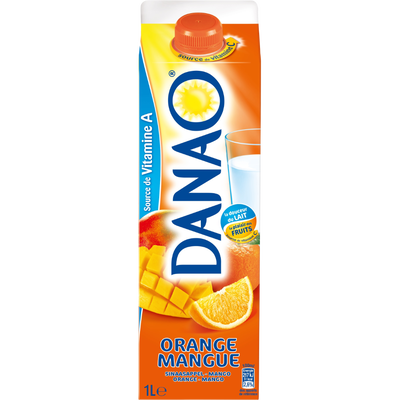 DANAO orange mangue, brique de 1 litre