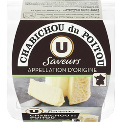 Chabichou du Poitou AOP au lait de chèvre pasteurisé Saveurs U, 150g
