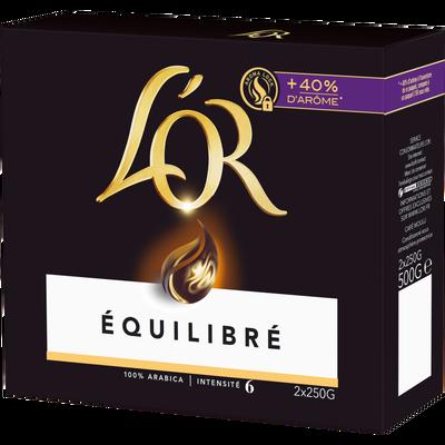 Café moulu, L'OR, équilibré intensité 6 aroma lock, 2x250g soit 500g