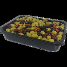 Olive dénoyautée verte et noire