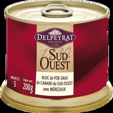 Delpeyrat Bloc Foie Gras Canard 100% Sud-ouest 30% De Morceaux , 200g
