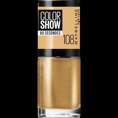 Vernis à ongles colorshow 108 golden sand MAYBELLINE, nu