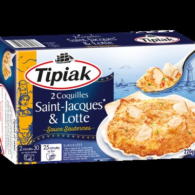 Coquilles St Jacques et lotte sauce Sauternes TIPIAK, 2x110g