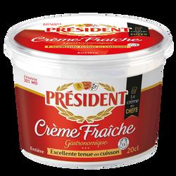 Crème fraîche épaisse PRESIDENT, 30%mg, 20cl