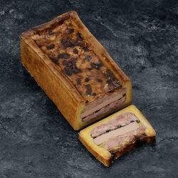 Pâté en croûte franc comtois morilles champignons noirs