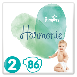 Couches Harmonie taille 2 Mega paquet PAMPERS X86