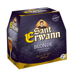 Bière blonde ST ERWANN originale, 7°, 6x25cl