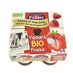 Yaourt à la fraise, Ferme d'Ana Soiz, 4x125gr