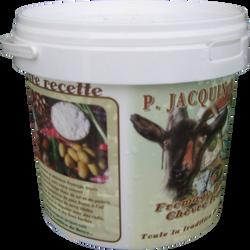 Fromage blanc de chèvre au lait de chèvre pasteurisé JACQUIN, 8% de MG, seau de 1,5kg