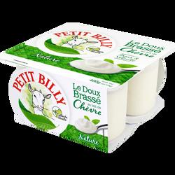 Yaourt brassé conventionnel au lait de chèvre nature PETIT BILLY, 4x100g