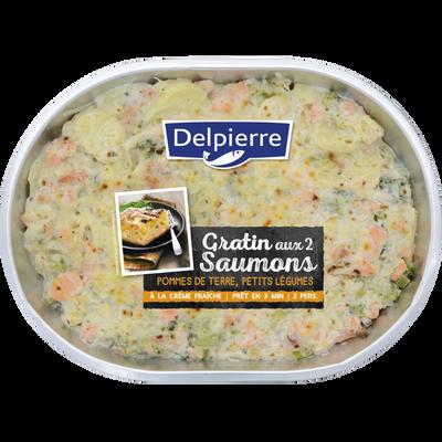 Gratin 2 saumons, transformé en France, la barquette de 600g