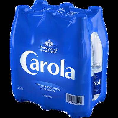 Eau de source CAROLA bleue, 6 bouteilles de 50cl