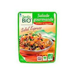 Salade Gourmande de lentilles, riz et légumes JARDIN BIO, pochon de 250g